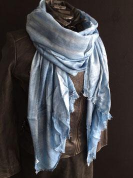 Kaschmirschal  4 Farben hellblau , blau , weiß , anthrazit , grau