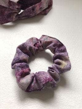 PURPLE RAIN - Cotton Scrunchie