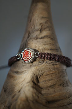 "Armband in Fassung mit Macrame-Band ""Circle of Life"""