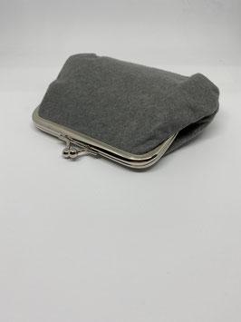 portamoneta grande 14x9cm grigio melange col.2