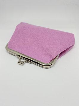 portamoneta grande 14x9cm grigio rosa col.11
