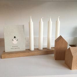 Kerzenleiste mit Kartenhalter