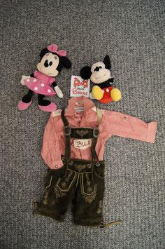 Lederhosen mit Hemd Gr. 80, fesche Lederhose aus Österreich