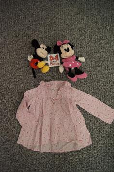 Langarm Oberteil Gr. 110, rosa gestreifte Hello Kitty Bluse