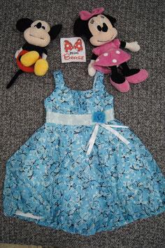 Kleid. Gr.92, hellblaues schönes Kleid mit Blumen