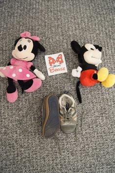 Schuhe Gr. 26, olivgrün-graue Binde Schuhe
