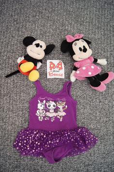Ballerina Kleidchen. Gr. 104/110, violettes Ballerina Kleidchen