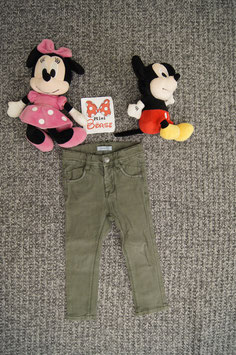 Hose Gr. 92, olivgrüne Jeans
