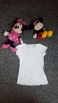 T-Shirt Gr. 110, weisses T-Shirt