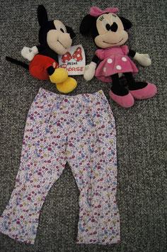 Leggins Gr. 86/92, rosa Leggins mit bunten Blümchen und Schmetterlingen