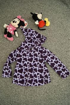 Pullover Gr. 92/98, neuer selbst genähter rosa violetter Pullover mit Herzchen