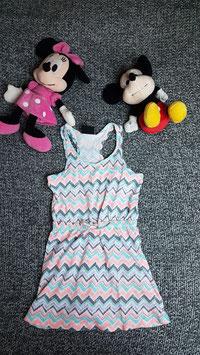 Kleid Gr. 116, Sommerkleidchen bunt gemustert.