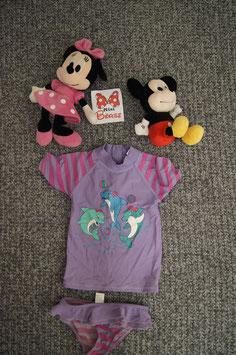 Bade Anzug Gr. 110, violettes Bade Shirt mit Unterteil