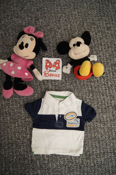 "T- Shirt Gr. 56, weiss- blaues T-Shirt "" Baby Gap"""