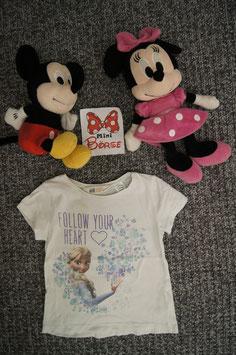 T-Shirt Gr. 98/104, weisses T-Shirt mit Elsa.