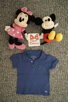 T-Shirt GR. 80, blaues T-Shirt mit Brusttasche, 3 Knöpfe vorne