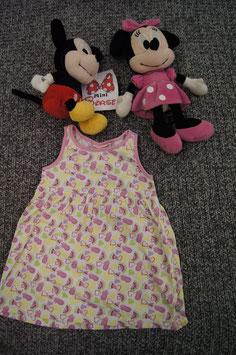Kleid Gr. 86, weisses Kleidchen mit Wassermelonen