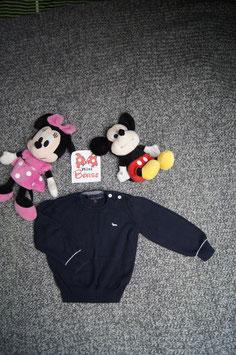 Pullover Gr. 80, dunkelblauer dünner Pullover, 2 Knöpfe an der Schulter