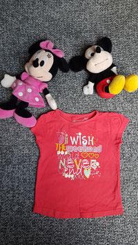 "T-Shirt Gr. 110, rotes T-Shirt ""Wish"", Flecken"