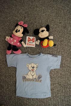 T-Shirt Gr. 98/104, hellblaues T-Shirt mit Eisbär