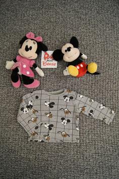 langarm T-Shirt Gr. 86, graues langarm T-Shirt mit Mickey Maus