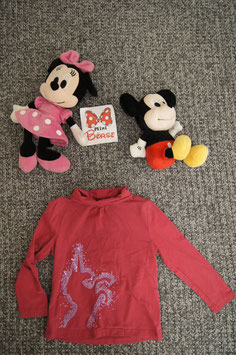 langarm T-Shirt Gr. 110, pinkes Shirt mit Glitzer Einhorn
