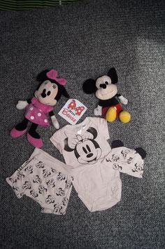 Set. Gr. 68, rosa Body, kurze Hose und Käppli alles mit Minny Mouse
