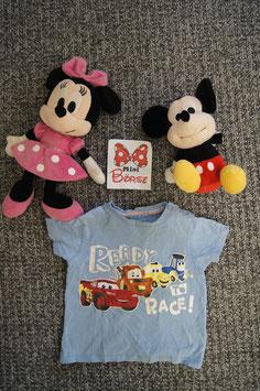 "T-Shirt Gr. 92, hellblaues T-Shirt "" Ready to Race, 2 Schulterdruckknöpfe"