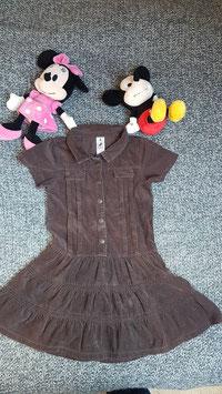 Kleid Gr. 128, braunes Manchester Kleid