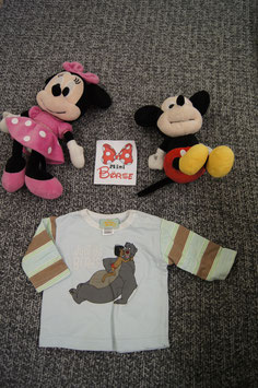 langarm T-Shirt GR. 68, hellblaues langarm T-Shirt mit Jugle Book