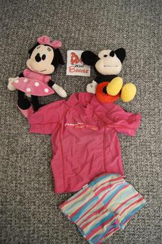 BAdeanzug Gr. 98, rosa Bade T-Shirt mit passenden Hösschen.