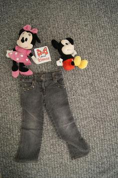 Jeans Gr. 104, hell schwarze Jeans mit Sternen Nieten
