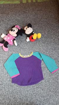 lang arm T-Shirt Gr. 92, violett-türkis langarm t-Shirt
