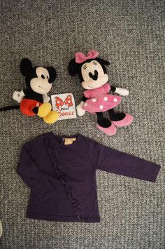 langarm T-Shirt Gr. 92, violettes langarm T-Shirt mit Rüscheli