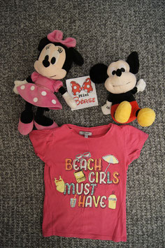 "T-Shirt Gr. 116, pinkes T-Shirt ""Beach Girls"""