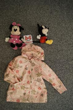 Jacke Gr. 110/116, rosa Regenjacke mit Blumenmuster