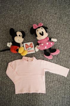 langarm T-Shirt Gr 92, rosa dickeres langarm T-Shirt , 2 Druckknöpfe am Rücken