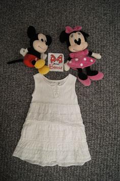 Kleid Gr. 86, weisses Kleidchen, 2 Knöpfe vorne