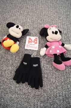 Handschuhe, schwarze stoffhandschuhe