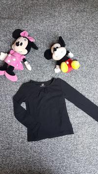 langarm T-Shirt Gr. 98/104, schwarzes langarm T-Shirt