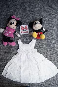 Kleid Gr. 80/86, weisses luftiges Kleid