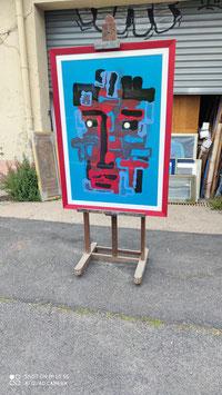 Tableau visage en abstraction