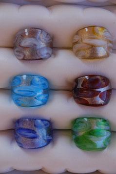 "Glas-Ring ""Silberschimmer"""