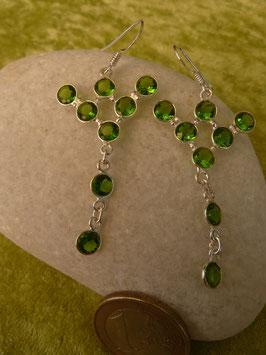 Ohrhänger Silber & Quarzkristall grün IV