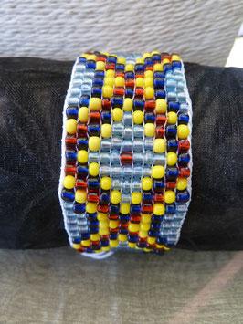 Rocailles-Webe-Armband - bunte Salinos
