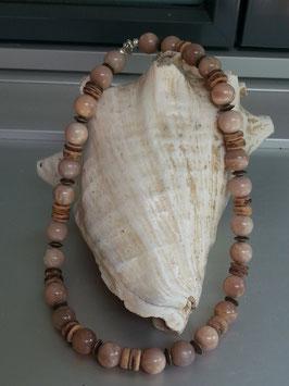 Mondstein Perlen Halskette Cullodena