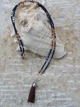 Lange Mala Perlen Halskette Hemera