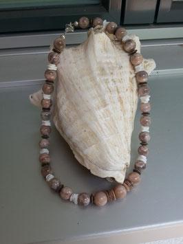 Mondstein Perlen Halskette Isobel
