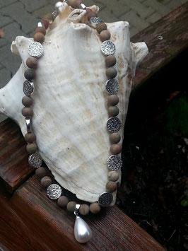 Jaspis Perlen Halskette Samia