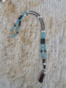 Lange Mala Perlen Halskette Lakota